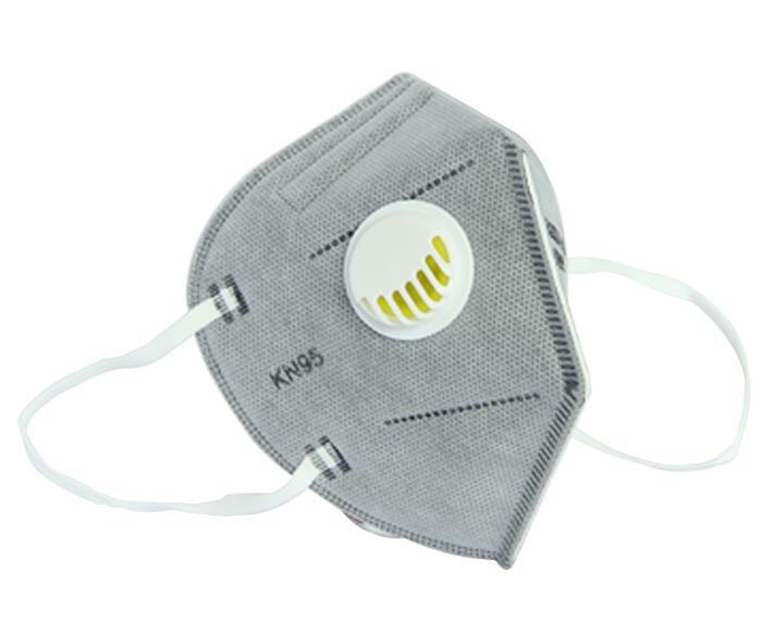 五层带活性碳专业防护KN95口罩带呼吸阀