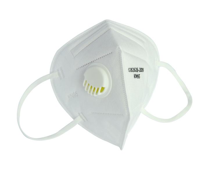 四层专业级防护KN95口罩带呼吸阀