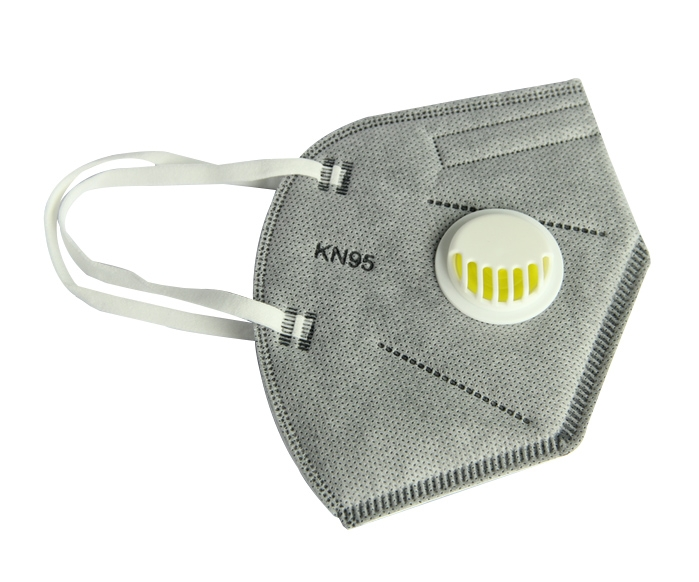 五层带活性碳N95级专业防护口罩带呼吸阀